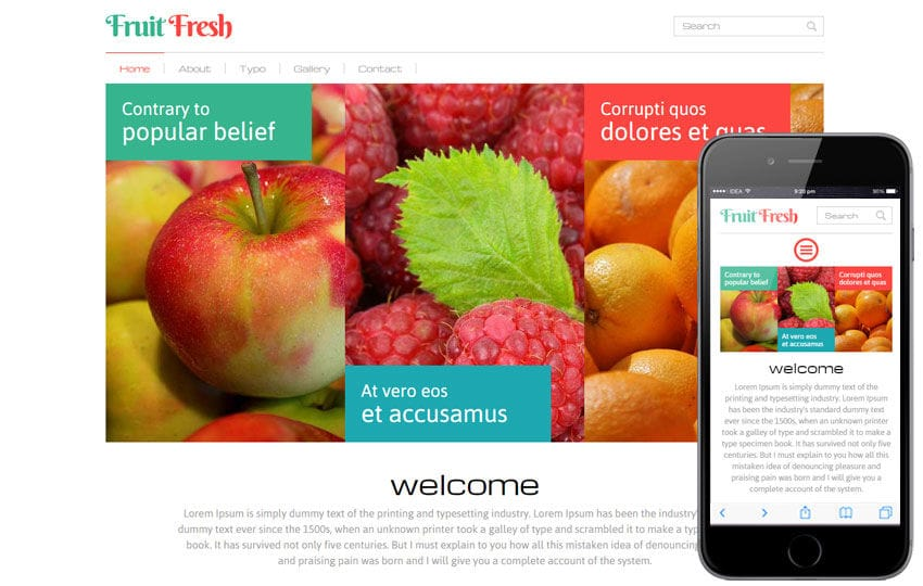 fruit fresh a agriculture category flat bootstrap responsive web