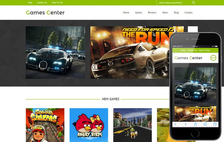 Games Center a Games Category Flat Bootstrap Responsive Web Template ...