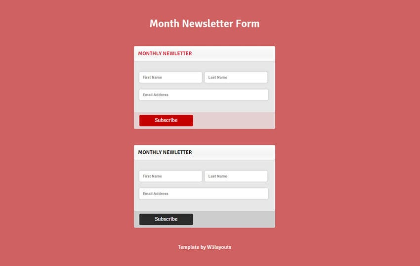 Month Newsletter Form Responsive Widget Template By W3layouts