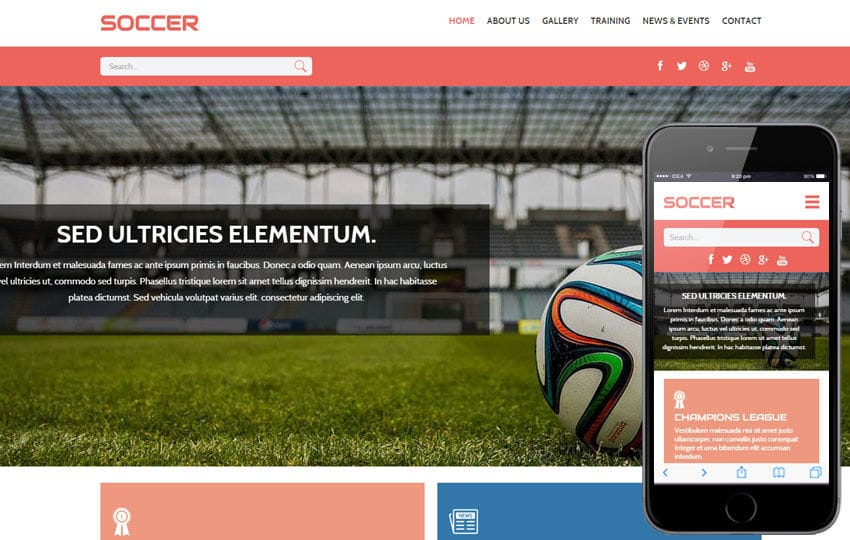 Soccer a Sports Category Flat Bootstrap Responsive Web Template by ...