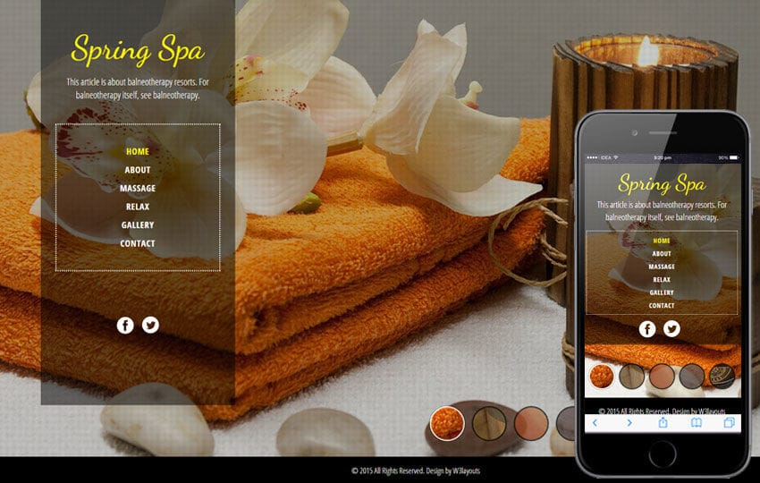Spa Salon a Beauty and Spa Flat Bootstrap Responsive Web Template Mobile website template Free