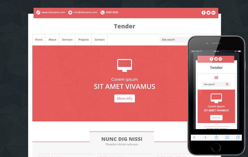 Tender A Multipurpose Flat Bootstrap Responsive Web Template By