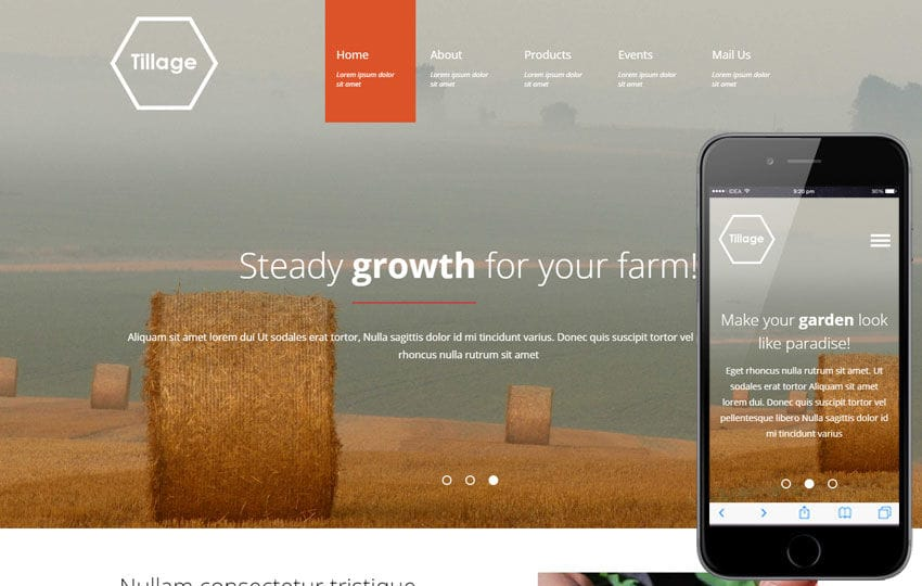 Tillage a Agriculture Category Flat Bootstrap Responsive Web Template Mobile website template Free