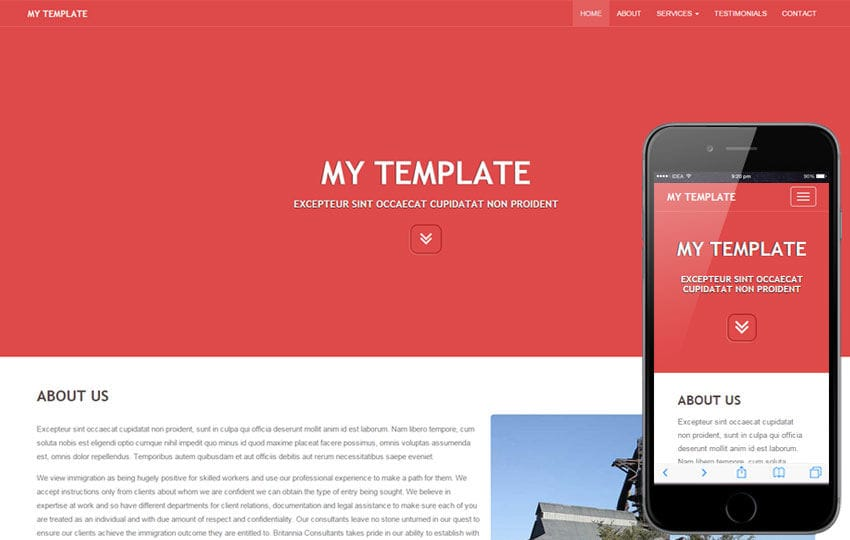 My template a general purpose bootstrap responsive web for What is a responsive template