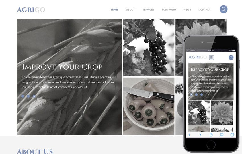 Agrigo a Agriculture Category Flat Bootstrap Responsive Web Template Mobile website template Free