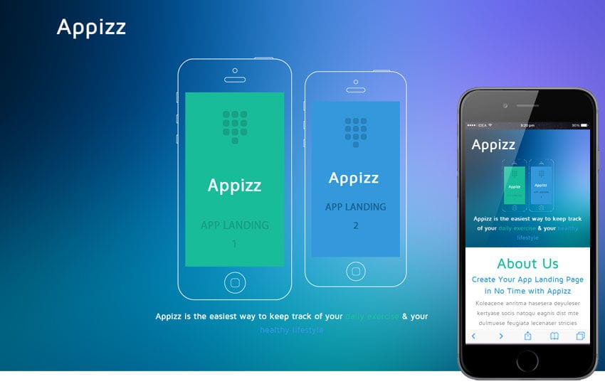 Appizz a mobile app based flat bootstrap responsive web for Mobile app privacy policy template