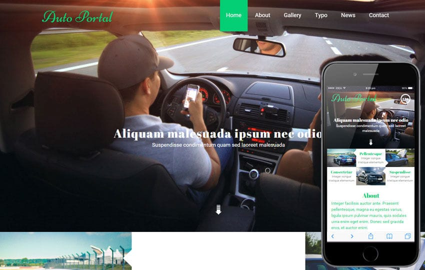 Auto Portal a Auto Mobile Category Flat Bootstrap Responsive Web Template Mobile website template Free