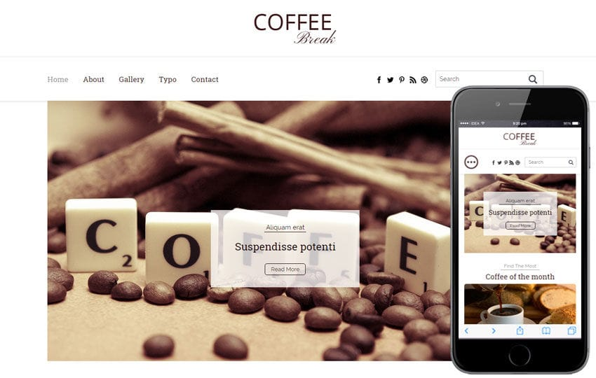 Coffee Break a Blogging Category Flat Bootstrap Responsive Web Template Mobile website template Free