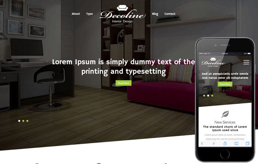 Decoline a Interior Architects Multipurpose Flat Bootstrap Responsive Web Template Mobile website template Free