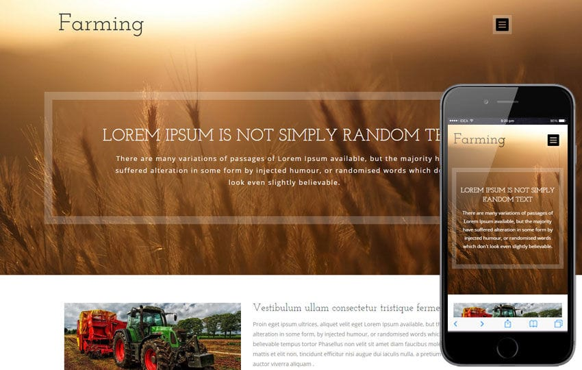 Farming a Agriculture Category Flat Bootstrap Responsive Web ...