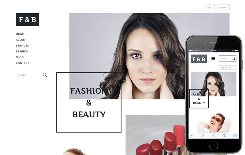 Fashion and Beauty a Fashion Category Flat Bootstrap Responsive Web Template Mobile website template Free