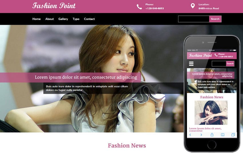 Fashion Point a Fashion Category Flat Bootstrap Responsive Web Template Mobile website template Free
