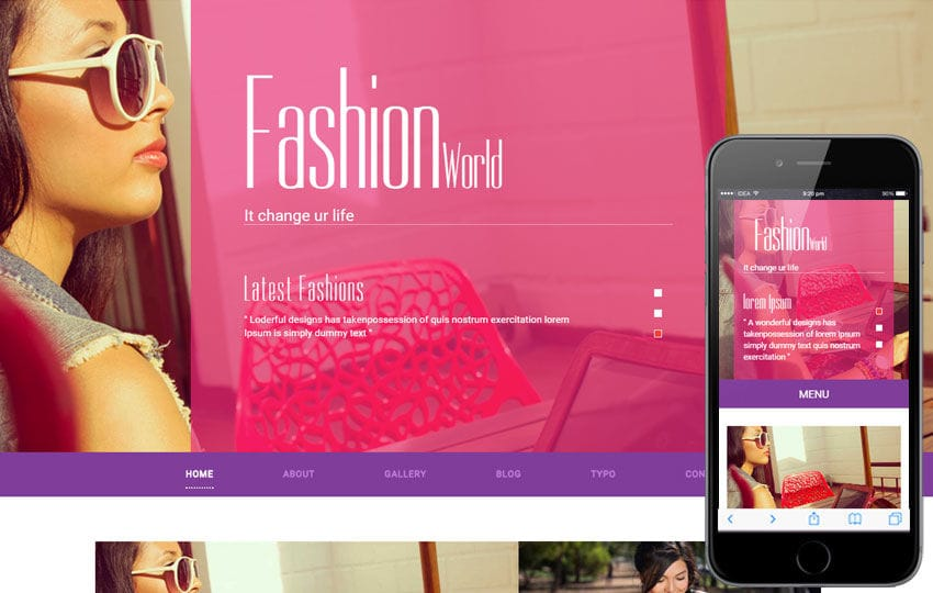 Fashion World a Fashion Category Flat Bootstrap Responsive Web Template Mobile website template Free