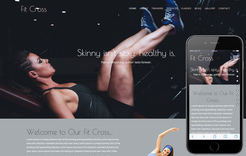Fit Cross a Sports Category Flat Bootstrap Responsive Web Template Mobile website template Free