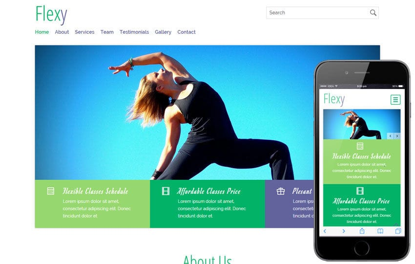 Flexy a Sports Category Flat Bootstrap Responsive Web Template Mobile website template Free