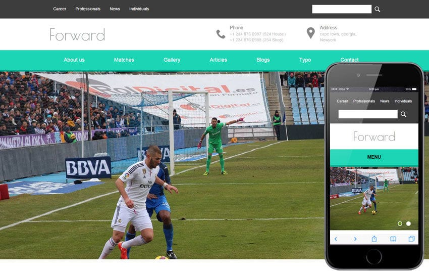 Forward a Sports Category Flat Bootstrap Responsive Web Template Mobile website template Free