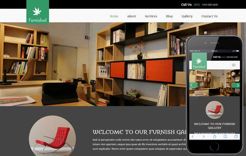 Furnished a Interior Architects Multipurpose Flat Bootstrap Responsive Web Template Mobile website template Free