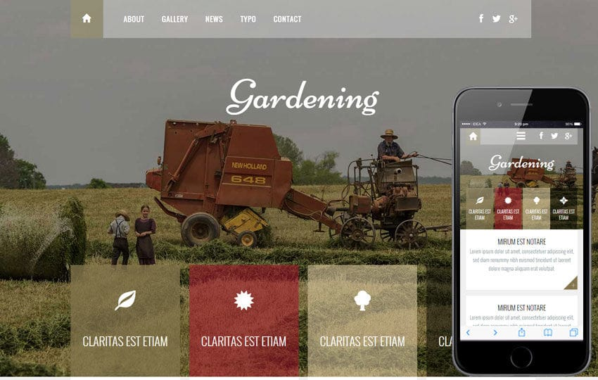Beautiful Gardening A Agriculture Category Flat Bootstrap Responsive Web Template
