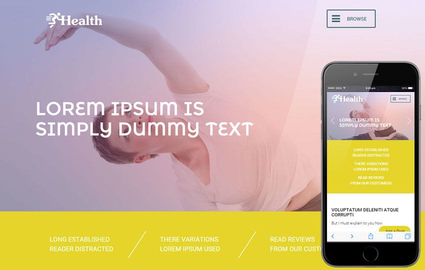Health a Sports Category Flat Bootstrap Responsive Web Template Mobile website template Free