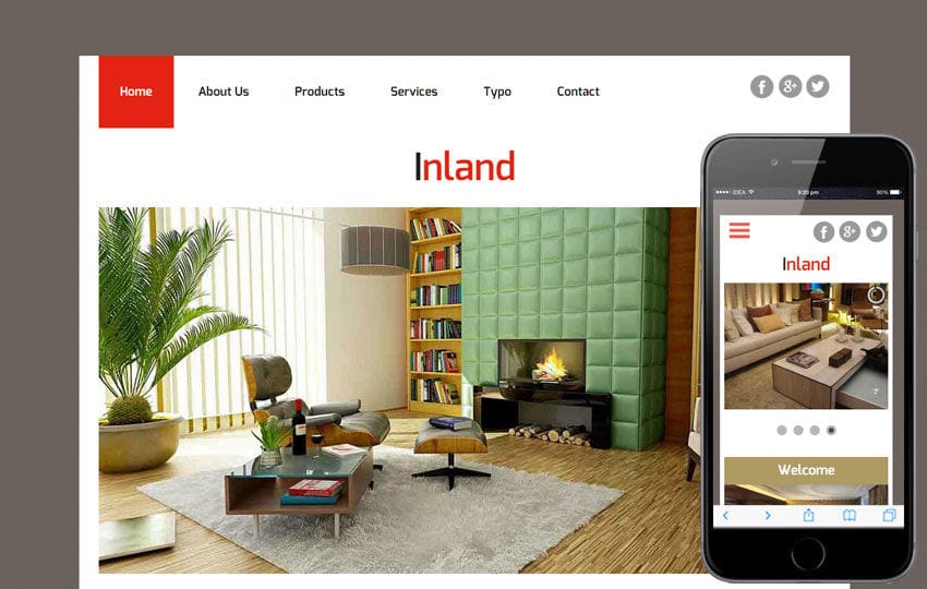 Inland a Interior Architects Multipurpose Flat Bootstrap Responsive Web Template Mobile website template Free