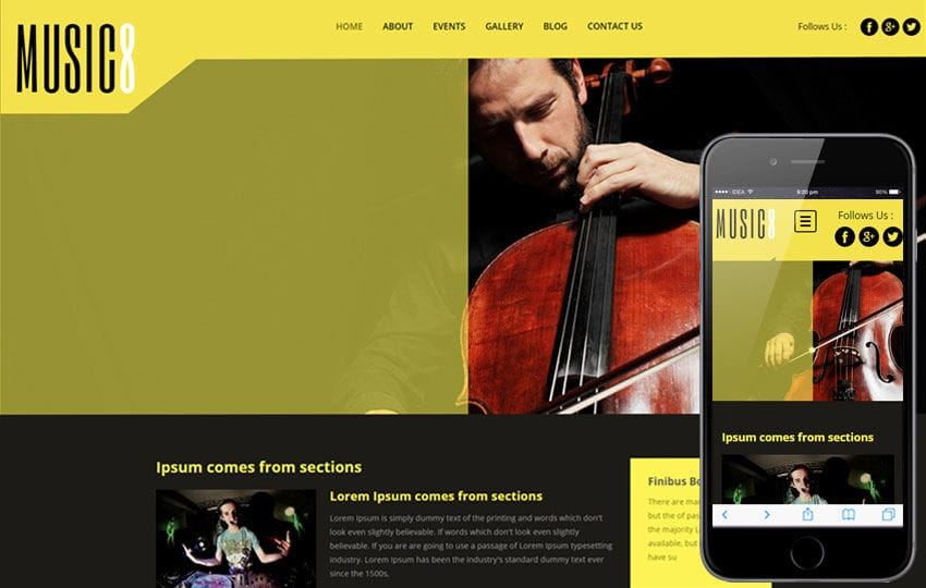 Music Web Templates - w3layouts.com
