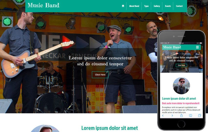 Music Band a Entertainment Category Flat Bootstrap Responsive web template Mobile website template Free