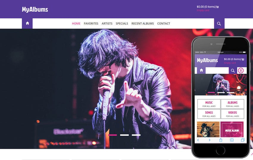 My Albums A Entertainment Category Flat Bootstrap Responsive Web