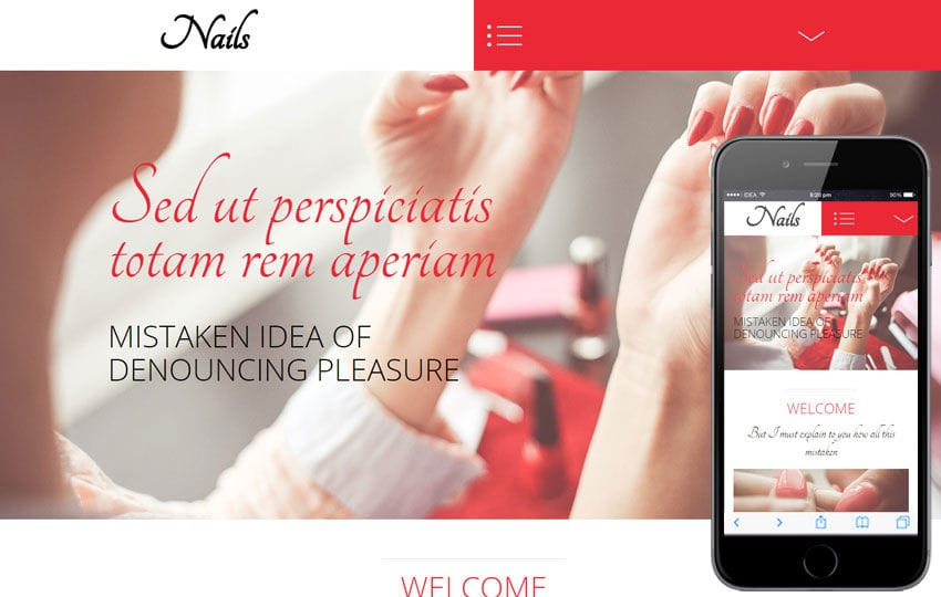 Nails a Beauty and Spa Category Flat Bootstrap Responsive Web Template Mobile website template Free