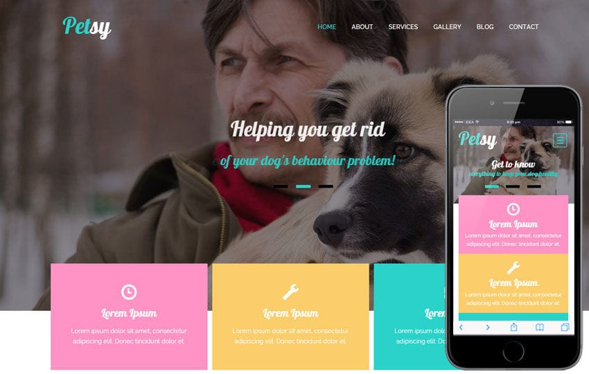 Petsy a Animal Category Flat Bootstrap Responsive Web Template Mobile website template Free