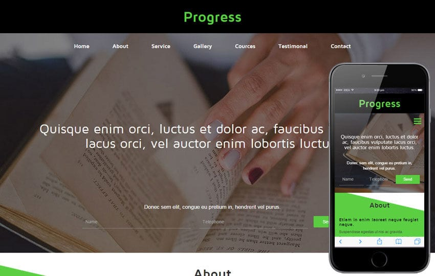 Progress a Educational Category Flat Bootstrap Responsive web template Mobile website template Free
