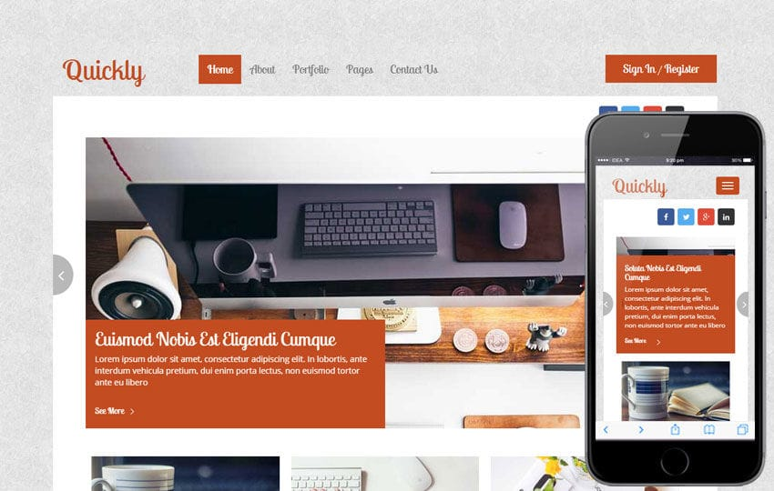 Quickly a Blogging Category Flat Bootstrap Responsive Web Template Mobile website template Free