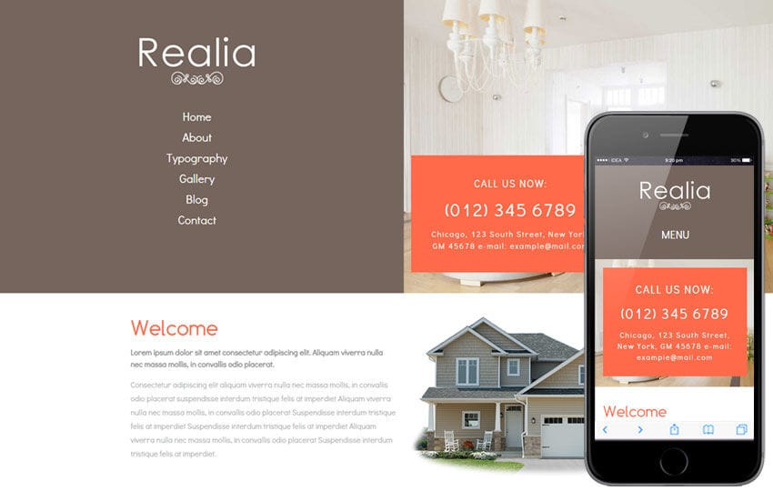 Realia a Real Estate Category Flat Bootstrap Responsive Web Template Mobile website template Free