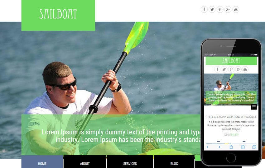 Sailboat a Transport Category Flat Bootstrap Responsive Web Template Mobile website template Free