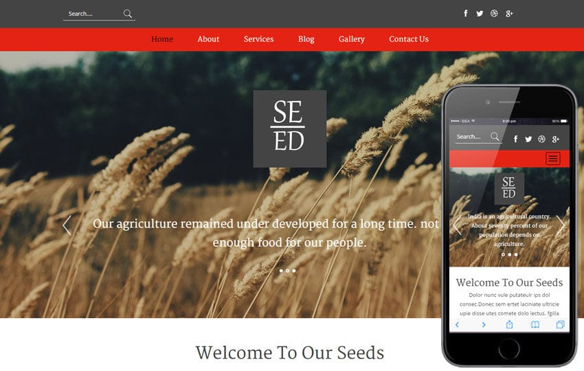 Seed a Agriculture Category Flat Bootstrap Responsive Web Template Mobile website template Free