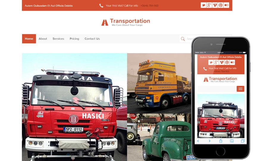 Transportation a Auto Mobile Category Flat Bootstrap Responsive Web ...