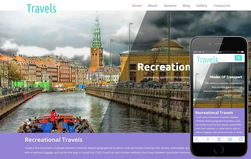 travels a travel agency flat bootstrap responsive web template