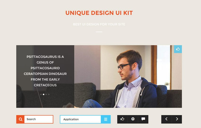 Unique Design UI Kit a Flat Bootstrap Responsive Web Template by ...