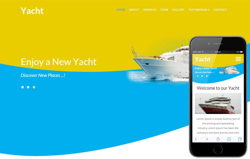 Yacht a Transport Category Flat Bootstrap Responsive Web Template by ...
