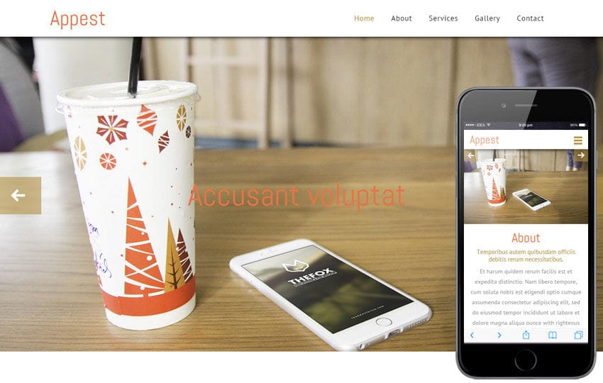 Appest a Mobile App based Flat Bootstrap Responsive Web Template Mobile website template Free