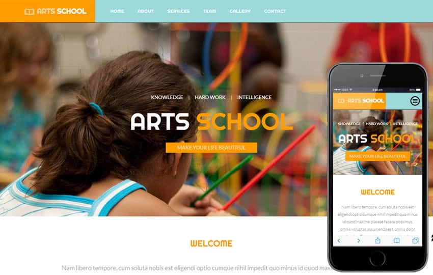 Arts School a Educational Category Flat Bootstrap Responsive web template Mobile website template Free