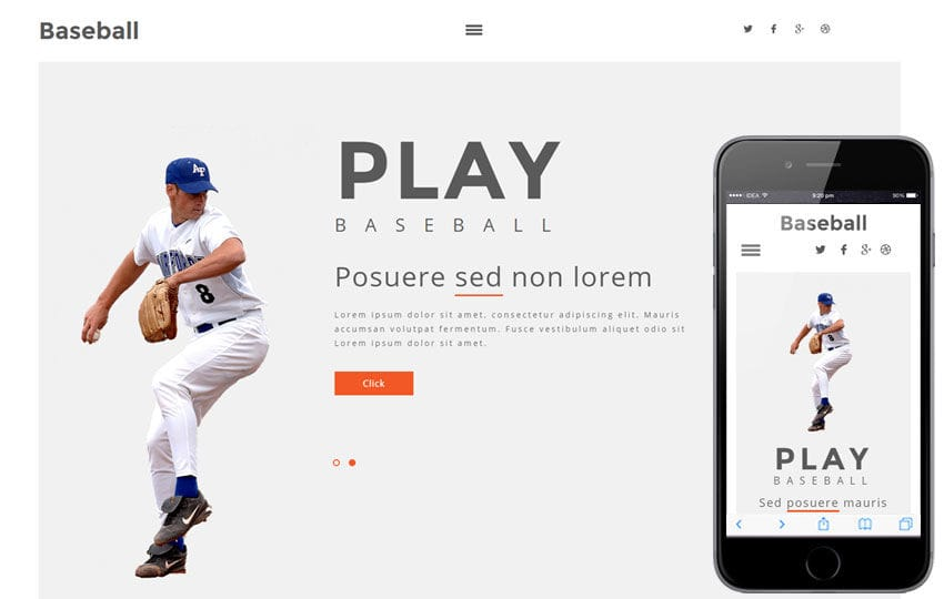 Base Ball a Sports Category Flat Bootstrap Responsive Web Template Mobile website template Free