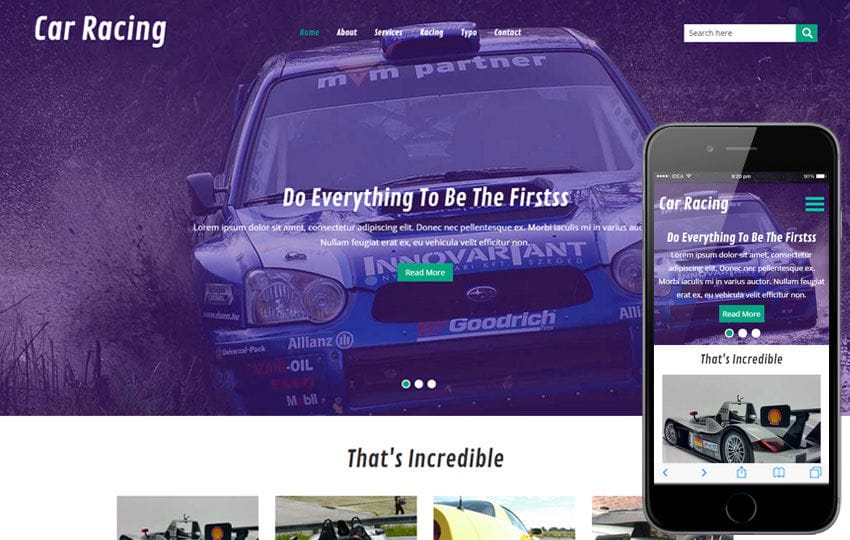 Car Racing a Auto Mobile Category Flat Bootstrap Responsive Web Template Mobile website template Free