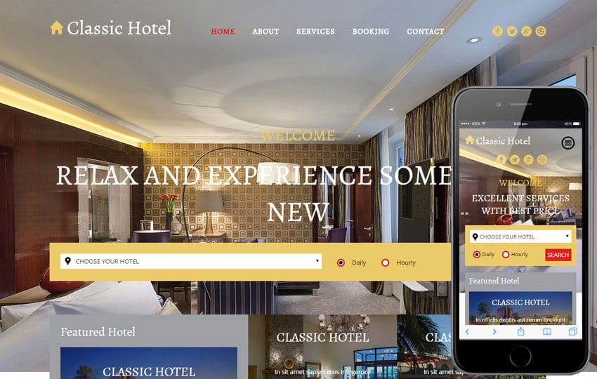 Clic Hotel A Category Flat Bootstrap Responsive Web Template