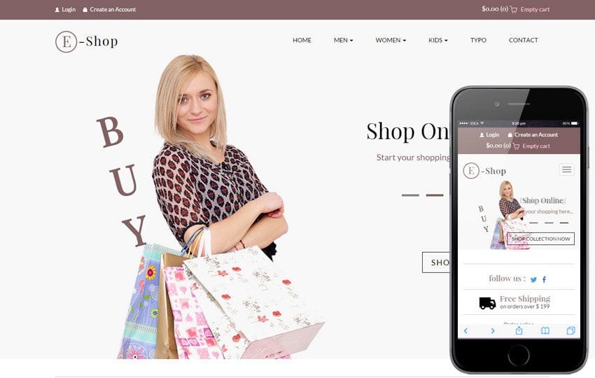 25 free beautiful ecommerce psd template ninodezign. Com.