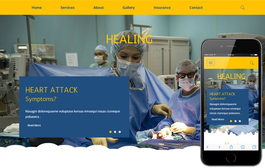 Healing a Medical Category Flat Bootstrap Responsive Web Template Mobile website template Free