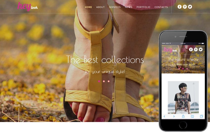 Hey Look a Fashion Category Flat Bootstrap Responsive Web Template Mobile website template Free