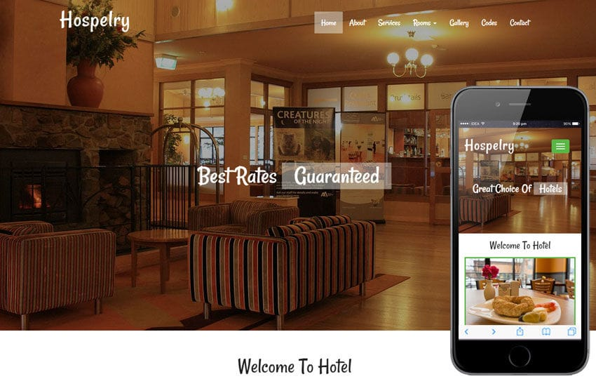 Hospelry A Hotel Category Flat Bootstrap Responsive Web Template By
