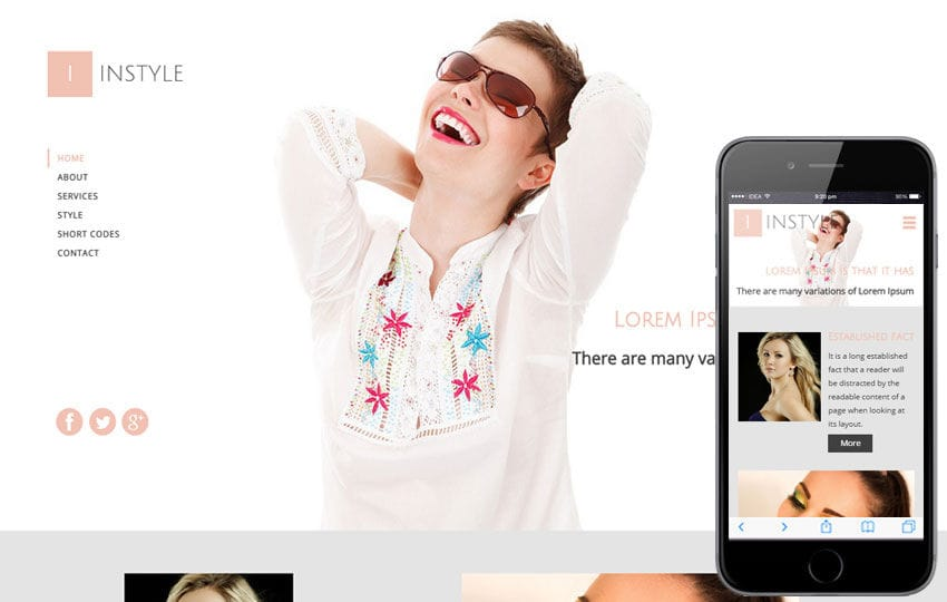 In Style a Fashion Category Flat Bootstrap Responsive Web Template Mobile website template Free