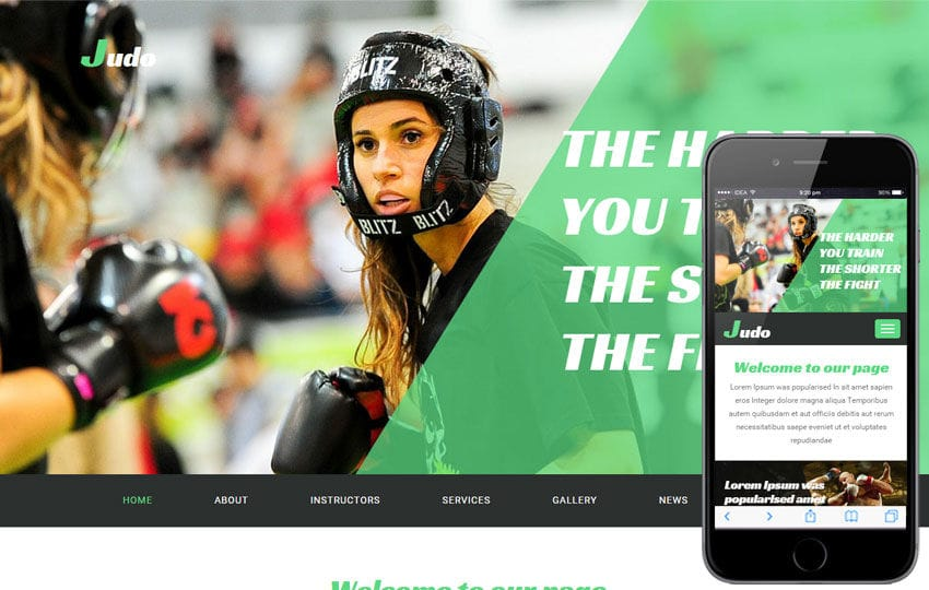 Judo a Sports Category Flat Bootstrap Responsive Web Template Mobile website template Free