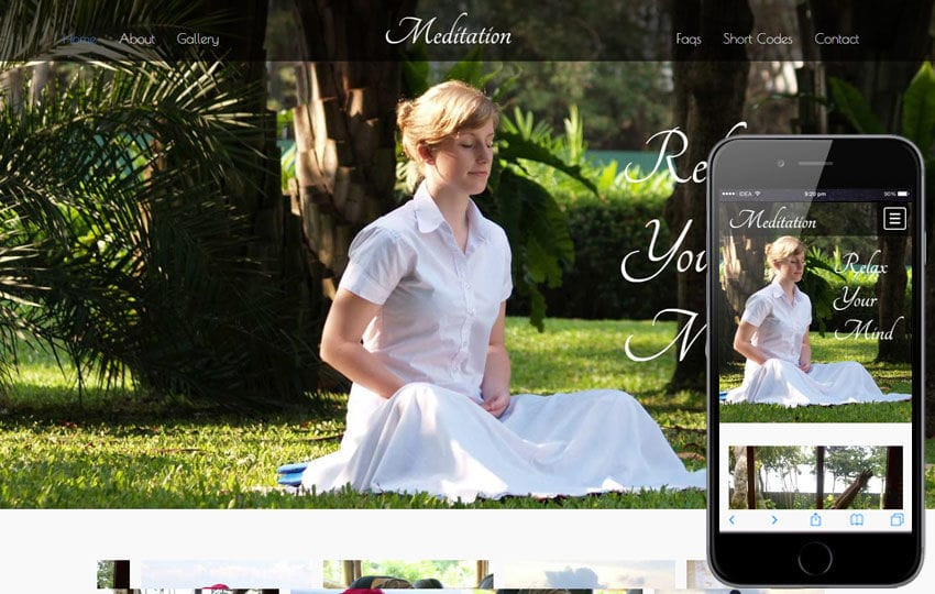 Meditation a Sports Category Flat Bootstrap Responsive Web Template Mobile website template Free